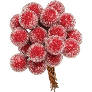Trade Only Christmas Florist Sundries and Wholesale Supplies - Frosted Red Berry Bunch