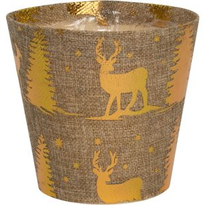 Trade Only Christmas Florist Sundries and Wholesale Supplies - Winter Forest Glow Pot