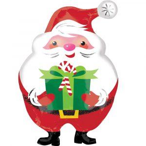Trade Only Christmas Florist Sundries and Wholesale Supplies - Jovial Santa Junior Shape Foil Helium Balloon