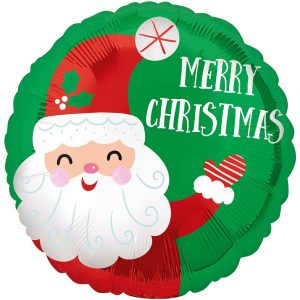 Trade Only Christmas Florist Sundries and Wholesale Supplies - Smiley Santa Foil Helium Balloon