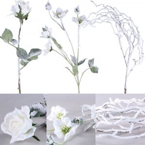 Trade Only Florist Sundries and Wholesale Supplies - Winter Artificial Flowers & Foliage Saver Bundle