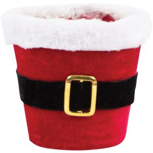 Trade Only Christmas Florist Sundries and Wholesale Supplies - Jolly Santa Plant Pot